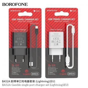 BỘ SẠC BOROFONE BA52A 2.1A IP