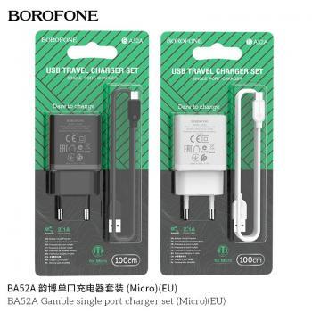BỘ SẠC BOROFONE BA52A 2.1A MICRO