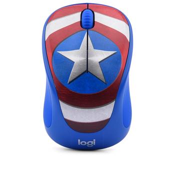 Chuột wireless không dây Logitech M238 Captain Marvel America chính hãng