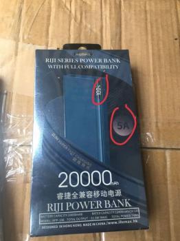 PIN DỰ PHÒNG REMAX RPP -108 20000MAH LCD 2USB,3C SẠC